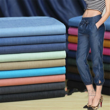 50*145cm width high quality thin cotton denim fabric by half meter DIY sewing blue jeans denim fashion clothing  fabric
