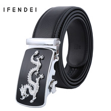 IFENDEI Luxury Designer Belts Men High Quality Genuine Leather Men's Belt Fashion Dragon Ceinture Buckle Belt Cinturones Hombre(China)