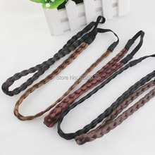 Fashion wig elasticity neat braid headband Alice band hairband wig braided headwear coiffure hair accessories(China)