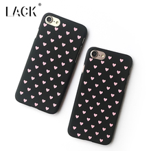 LACK Candy Color Peach Hearts Phone Case For iphone 6 Case For iphone 6S 6 Plus Fashion Slim Hard PC Cases Lovely Cartoon Cover