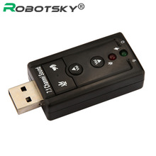 External USB AUDIO SOUND CARD ADAPTER VIRTUAL 7.1 ch USB 2.0 Mic Speaker Audio Headset Microphone 3.5mm Jack Converter