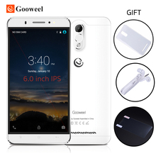 Free Case Gooweel M3 mobile phone 6.0 inch IPS screen MTK6580 quad core smartphone 8MP+5MP GPS 1GB RAM 8GB ROM 3G Cell phone