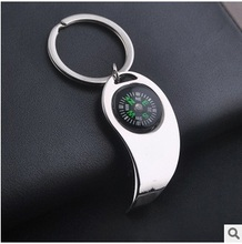Novelty items Fashion Casual Bottle Opener keychain Compass styling key chain ring creative Metal pendant key holder gift