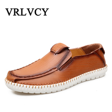 Buy New Men Leather Casual Shoes Loafers Fashion Men Shoes Moccasins Chaussures Flats Male Breathable Driving Shoes for $27.86 in AliExpress store