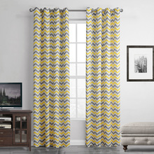 SunnyRain 1 Piece Yellow Striped Abstract Translucidus Curtain For Living  Room Window Curtain For Bedroom