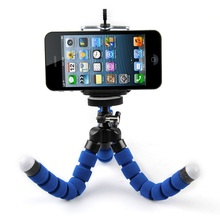 Mini Portable Flexible Sponge Octopus Tripod Stand Mount With Holder For Phone Action Camera and Camcorder/redmi 3s phone holder(China)