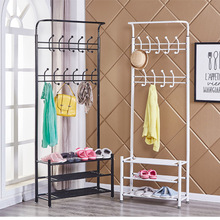Hanger hook clothing bag used for travel, wrought iron landing receive. Multi-function coatrack shoe rack combination