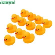 CHAMSGEND Bath Toy 12PC Squeezing Call Rubber Duck Ducky Duckie Baby Shower Birthday Favors Toy For Children Kids Toys WDec2(China)