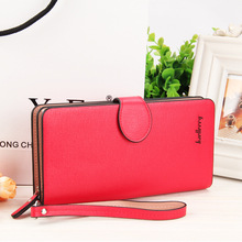 Baellerry Women Wallet Business Fashion Purse Long Zipper Lady Clutch Large Capacity Card Holders Red Solid Free Shipping