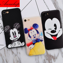 Case for iPhone 5s Case Minnie Mickey Alice Popular Design Soft Silicon Phone Case for iPhone 5s 5 se 6 6s 7 Plus coque capa