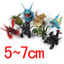 8pcs/set How to Train Your Dragon 2 Action Figure Toys Night Fury Toothless Gronckle Deadly Nadder Dragon Ball Z Figures for Boy