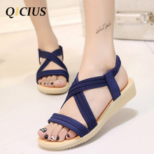 QICIUS Fashion Women Gladiator Sandals Outdoor Casual Summer Shoes Sandals Platform Shoes Cross-tied Wedge Woman Sandals B0036
