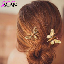 MWsonya Vintage Hairpins for Women Lady Fashion Hair Jewelry Butterfly Pattern Hair Accesories A1205(China)