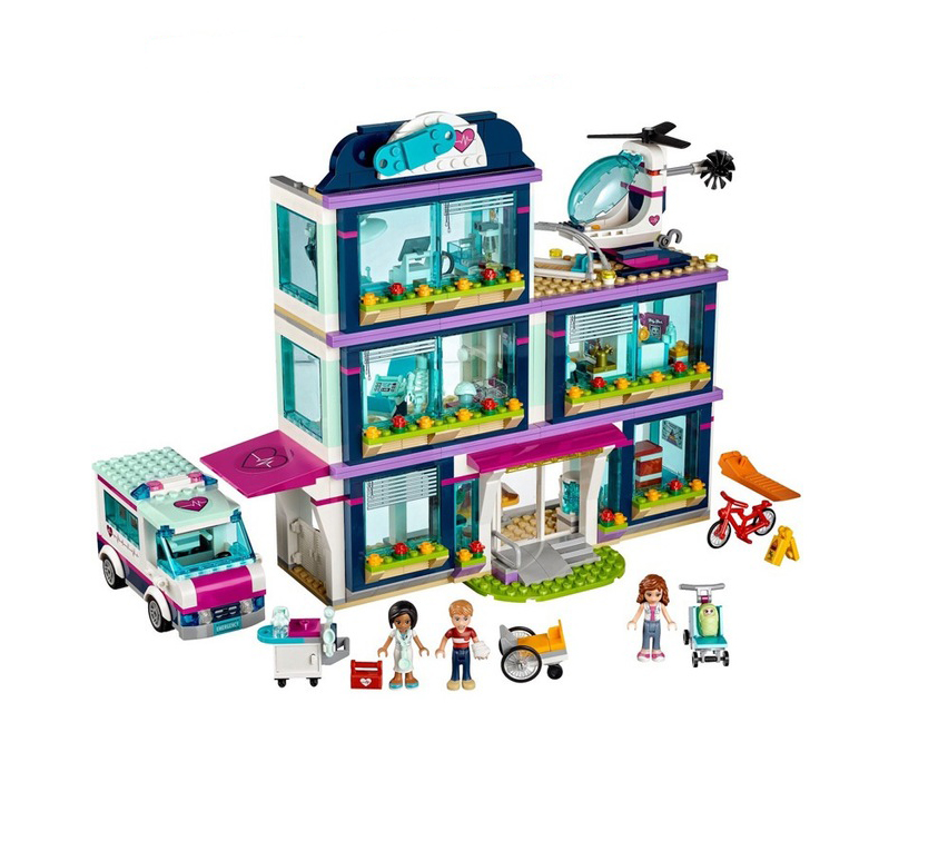 mylb Friends Girl Series 932pcs Building Blocks toys Heartlake Hospital kids Bricks toy girl gifts Compatible Legoe<br>