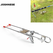 Automatic Adjustable Stainless Steel Double Spring Tip-Up Hook Fishing Rod Pole Bracket Holder Stand Support Rack Accessory
