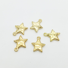 30pcs/lot New Charms 12.5*15mm Gold Color Zinc Alloy I Love you Letters Stars Charm Pendant For Handmade