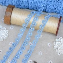 Her dress lace imported quality fine blue water soluble flower edge(China)