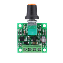PCB Low Voltage DC PWM Motor Speed Controller Module With LED indicator and  Rotary Switch Motor Accessories1.8V 3V 5V 6V 12V 2A