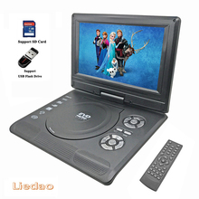 Liedao 9.8 inch Portable DVD EVD VCD SVCD CD Player With Game and radio Function TV AV Support SD MS MMC Card(China)
