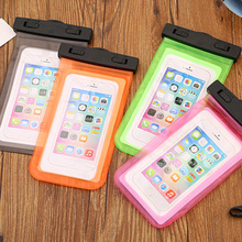 Universal Waterproof Cell Phones PVC Pouch Dry Bag Case For iPhone 7/6 Plus Samsung Galaxy Smart Mobile Phone Transparent Hot(China)