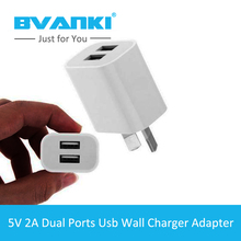 [Bvanki]100Pcs/Lot China Factory EU, US, UK, AU Plus usb charger for iphone 5 Marketing Gift Plastic 5V 2A Mobile Wall Charger
