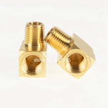 SAE 130239 Metal Brass Fitting, 1/8 1/4 3/8 1/2 3/4 NPT Female and Male Pipe Thread 90 Degree Barstock Street Elbow