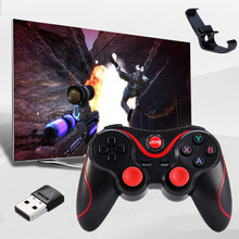 T3 Wireless Joystick Bluetooth 3.0 Gamepad Gaming Controller Remote for Tablet PC Android Smartphone PK S3 Bulit in Battery