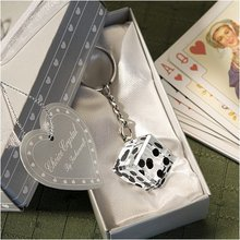 Wedding Favors and Gifts Crystal Collection Dice Keychain  Baby Christening Gifts Baby Shower Favors