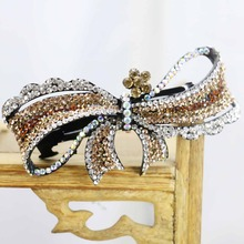 40*85mm Hot style Wedding Headdress Gifts For women Girls Hair Accessory Clip Hair band Female Jewelry Design Rhinestone(China)