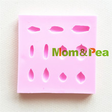 Mom&Pea 1451 Free Shipping Succulent Plant Mini Leaf Mold Cake Decoration Fondant Cake 3D Mold Soap Mold Food Grade(China)