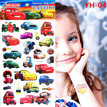 Anime Kids Rusteze Racing Car Temporary Tattoo Sticker For Children  Flash Cartoon Temporary Tattoo FREE SHIPPING