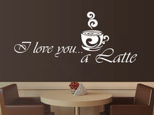 Coffee Vinyl Wall Decal Coffee Latte Kitchen Cafe Interior Decor Mural Art Wall Sticke Coffee Shop Window Glass Home Decoration