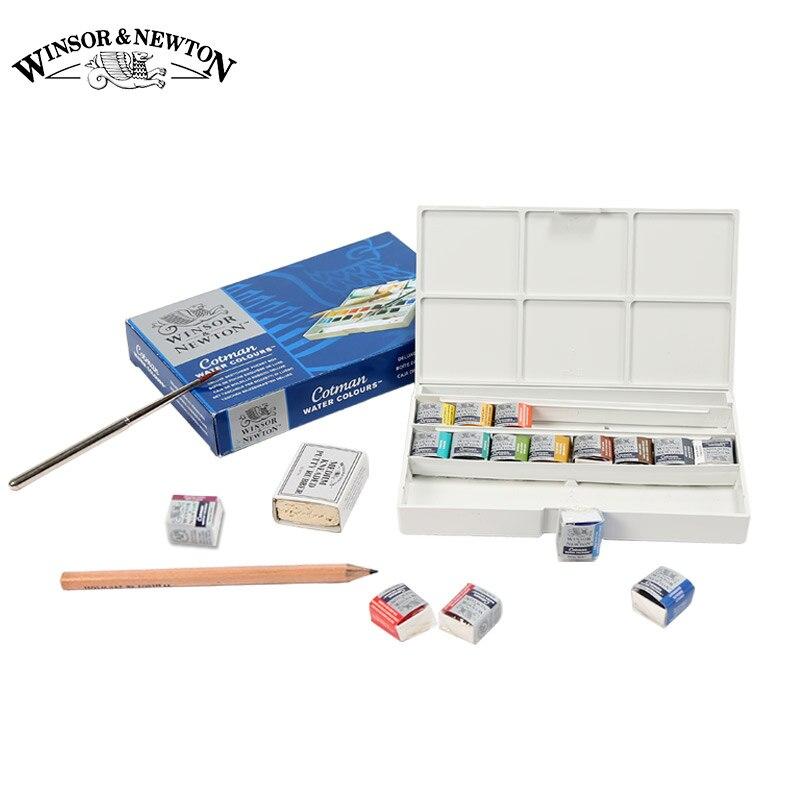 Winsor&amp;Newton Imported Solid Watercolor Paints 12/16/24/45 Colors Half Pans Pigment Set For Artist Art Supplies<br><br>Aliexpress