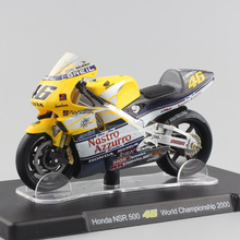 1/18 Scale VALENTINO Rossi Kids Honda Motorcycle Model NSR 500 #46 World Championship 2000 Diecast Kids Toys Motos Collection(China)