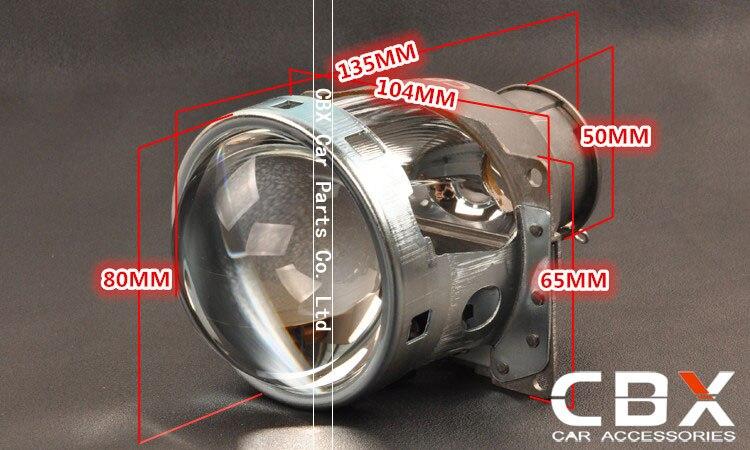 3.0 inches Koito Q5 H7 bulb socket size