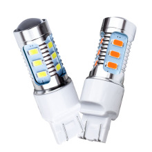 2pcs T20 7443 W21/5W 15 SMD 5630 High Power LED lamp Yellow Amber Turn Signal Red Tail light bulb White Reverse lights 12V 2X(China)