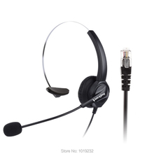 Free shipping RJ9/ RJ11 connector headset RJ9 plug headphones Noise canceling Telephone headset RJ9 plug office phone headset(China)