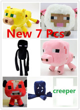 2015  Hot Sale 7pcs/lot Minecraft Plush Toys Movie & TV Minecraft Creeper Toys for Children Presents Creative Gifts Wholesale