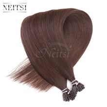 "Neitsi I Tip Stick Tip Keratin Capsule Human Hair Extensions Brazilian Virgin Remy Straight 2# 20"" 1g/s 50g 100g High Quality"