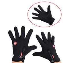 Sport Windstopper Ski Gloves Winter Full Finger Warm Riding Motorcycle Glove M L XL XXL Size Touch Screen Gloves(China)