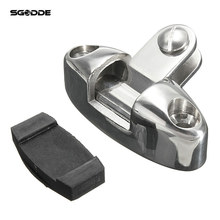 Marine Stainless Steel Boat Bimini Top Swivel Deck Hinge With Rubber Pad Fittings Hardware Rowing Boat Accessories(China)