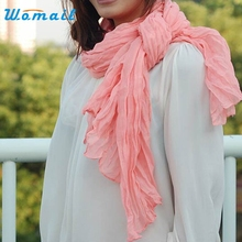 Womail Good Deal Good Deal  New Fashion Spring Womens Girl Candy Color chiffon scarf Wrap Shawl Pashmina Scarves Gift 1PC