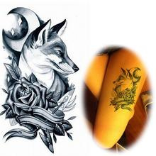New Popular Temporary Tattoo Sticker Wolf Head Totem Body Art Fashion Decal Tatoo cute animal tattoo AX51