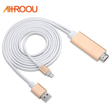 Buy 2018 Hotsale 2M Plug & Play HD 1080P 8 Pin 8pin HDMI Cable HDTV AV Adapter iPhone X 8 7 7plus 6 6s plus IOS 10.3/11 for $11.69 in AliExpress store