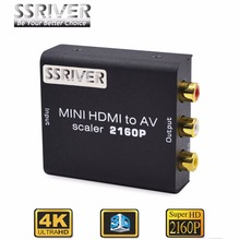 SSRIVER 4K HD Video Converter HDMI to RCA AV/CVSB L/R Video 480P 720P 1080P 2160P HDMI2AV Support NTSC PAL HDMI TO AV Adapter(China)