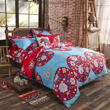 Boho Bedding Set 4pcs Duvet Cover King/Queen Size Cotton Bedspread Sheets Bed Luxury Home Textile Bohemian Wedding Bedding Sets