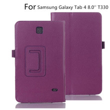 Case Cover For Samsung Galaxy Tab 4 8.0 inch T330 T331 T335 Tablet Case Folding Stand Smart  PU Leather Case For 8.0'' T330 T331