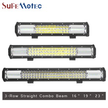 SufeMotec 23inch 324W 19inch 270W  3-Row Led Work Light Bar Car Combo Beam Fog Lamp for Offroad Trucks ATV 4x4 4WD Led Barra 12V