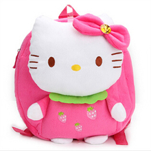 Actionclub Backpack toy Fashion New Arrival 4 Color 1-3 Y Hot Hello Kitty Bow plush backpack mochila children's backpacks toy(China)