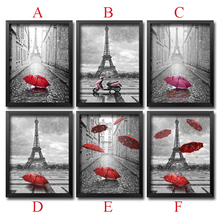 3D DIY Diamond Painting Cross Stitch Needlework Mosaic 5D Diy Diamond Embroidery Paris Red Umbrella Pattern Hobbies Crafts